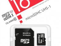 Карта памяти MicroSDHC 16 Gb SmartBuy class